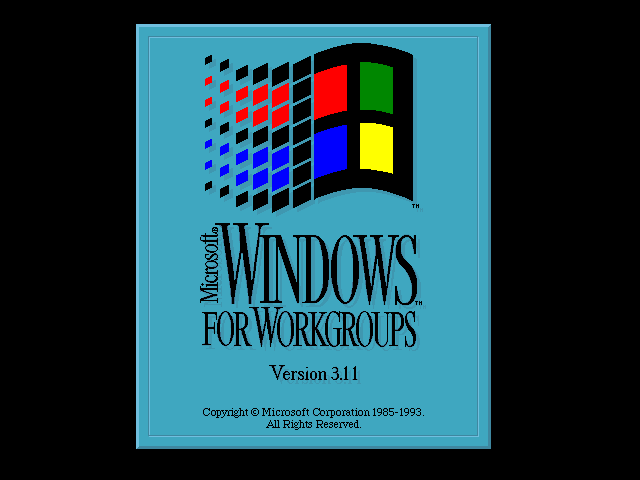 Windows for Workgroups 3.11 (English)